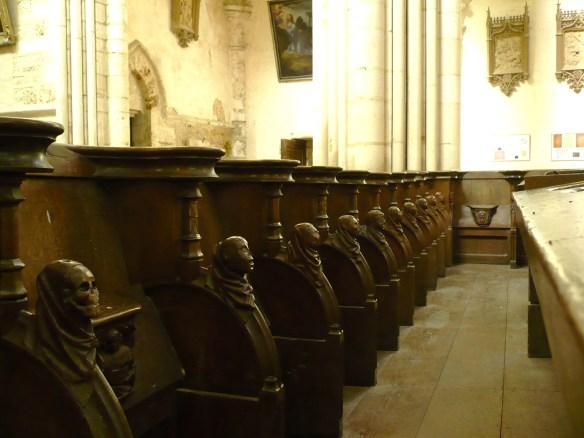 stalles du choeur de l'eglise orbay abbaye